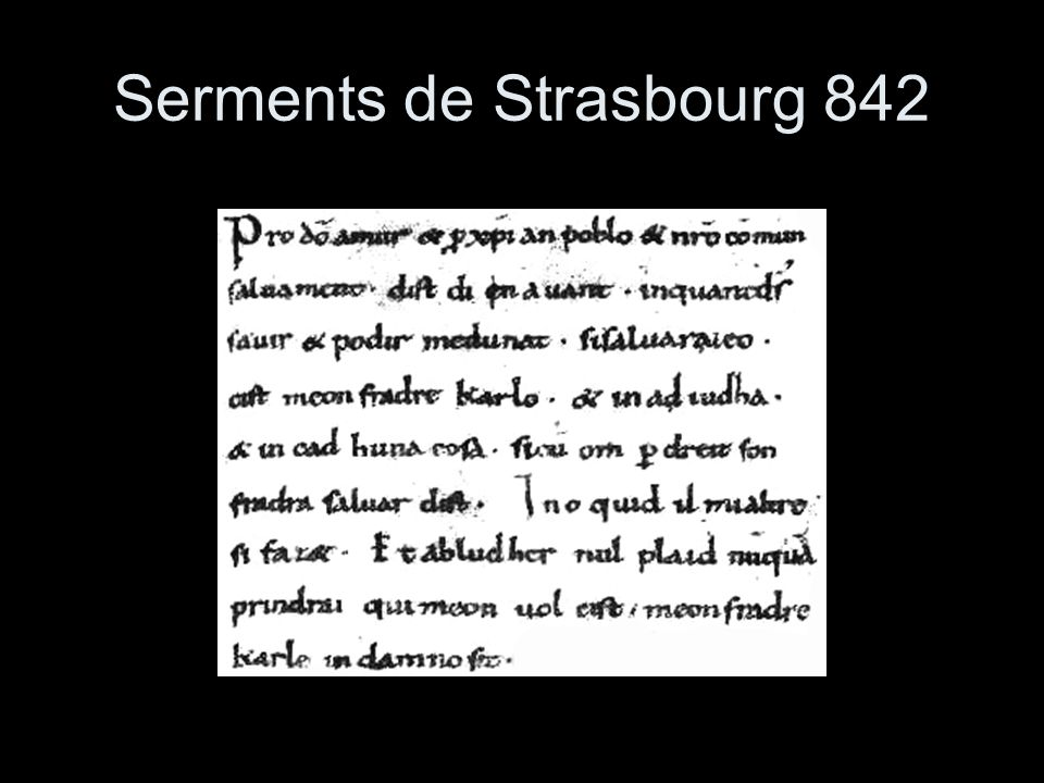 Serments de Strasbourg 842