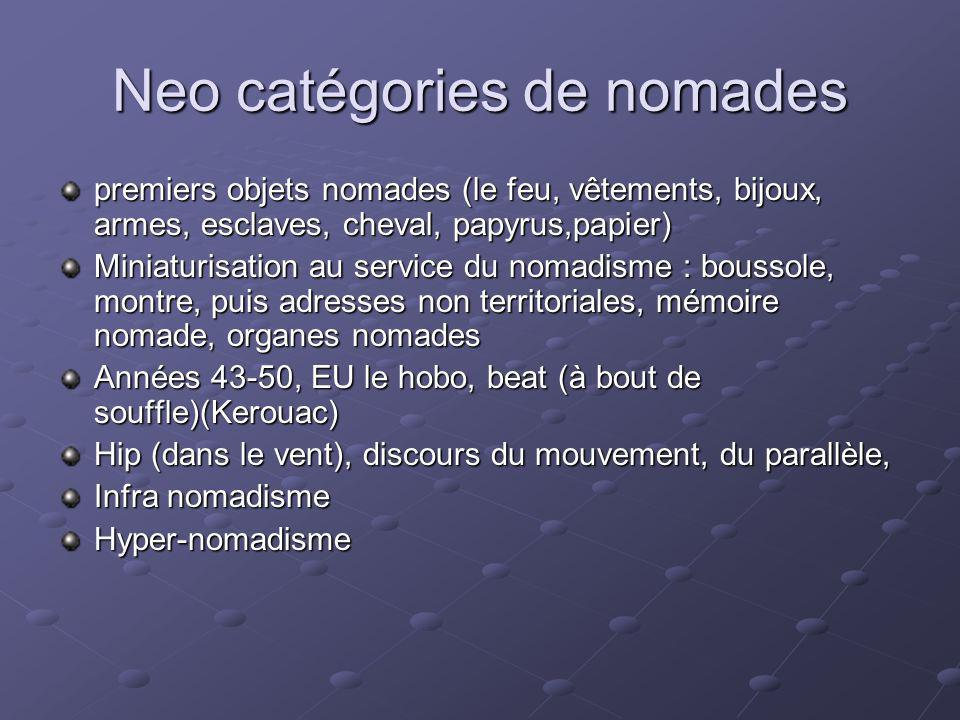 Neo catégories de nomades
