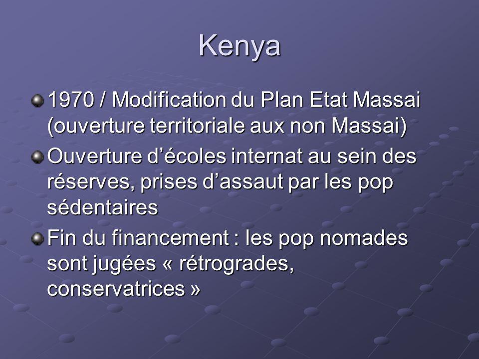 Kenya 1970 / Modification du Plan Etat Massai (ouverture territoriale aux non Massai)