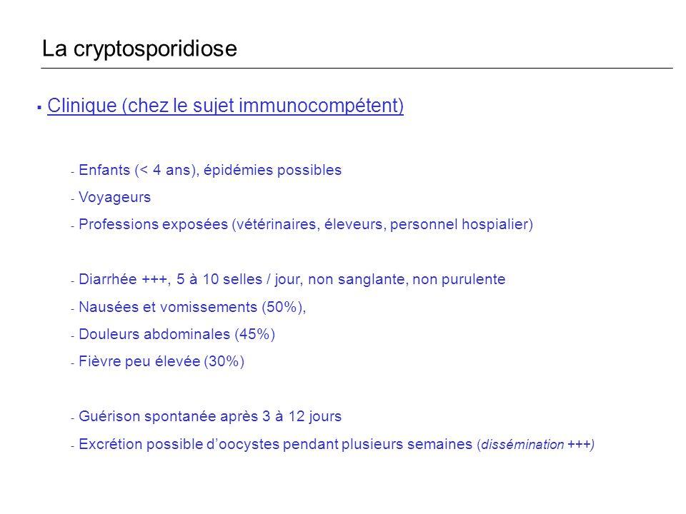 La cryptosporidiose Clinique (chez le sujet immunocompétent)