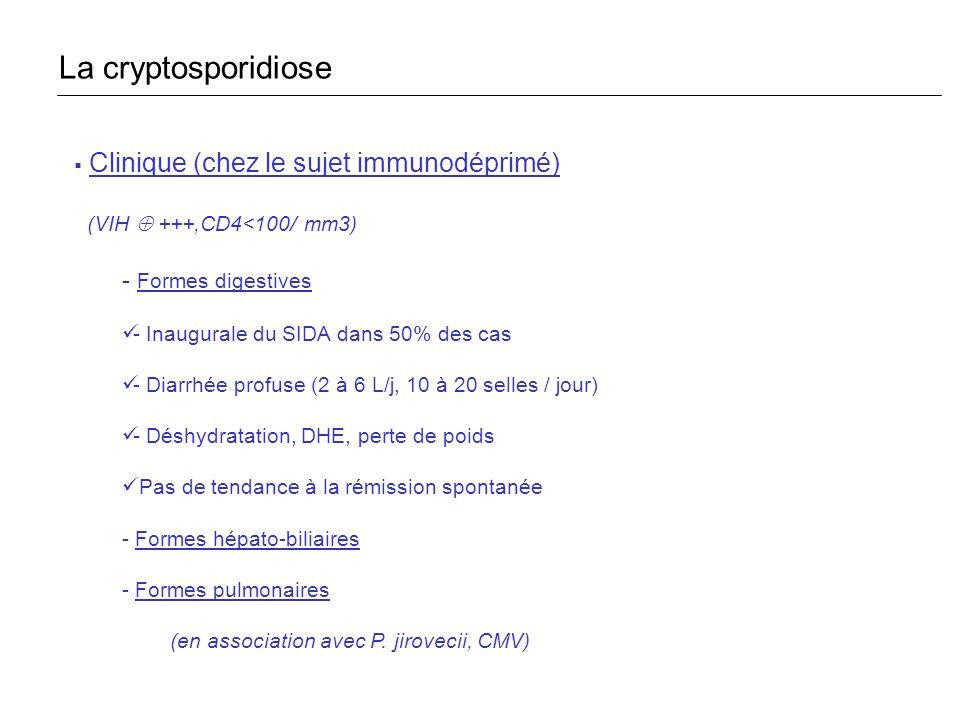 La cryptosporidiose Clinique (chez le sujet immunodéprimé)