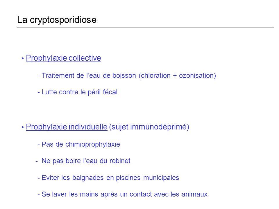 La cryptosporidiose Prophylaxie collective