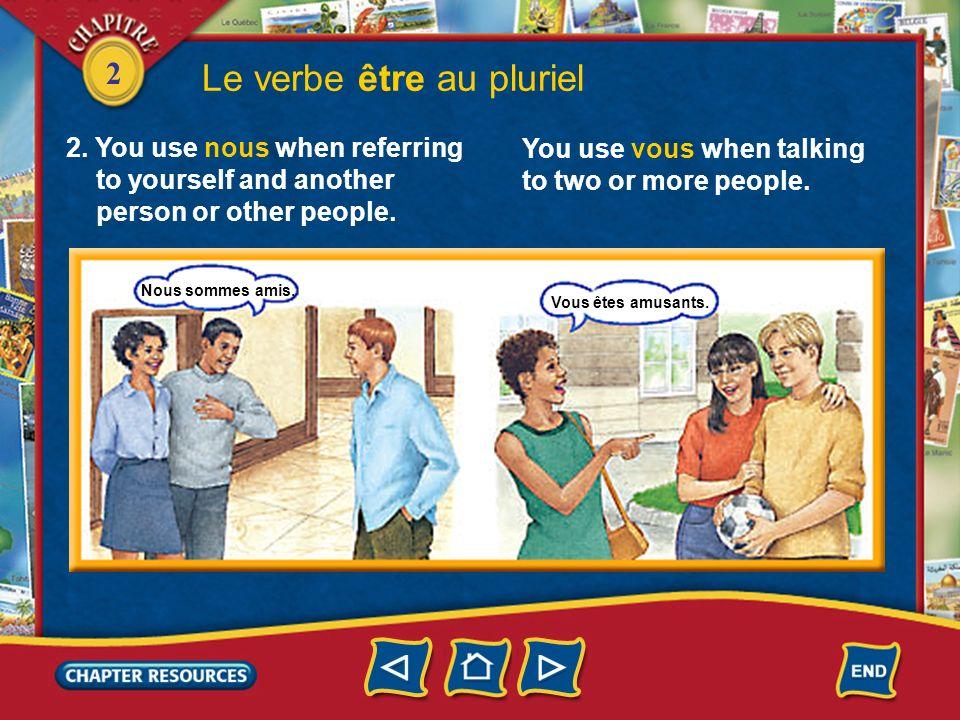 Le verbe être au pluriel
