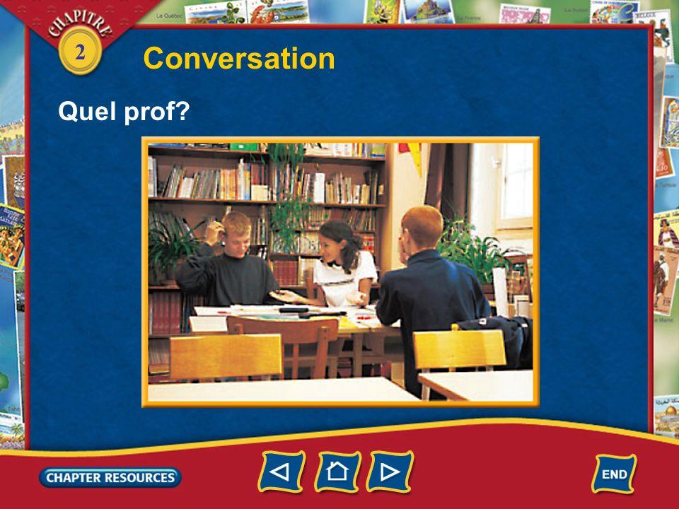 Conversation Quel prof