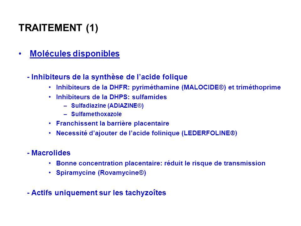 TRAITEMENT (1) Molécules disponibles