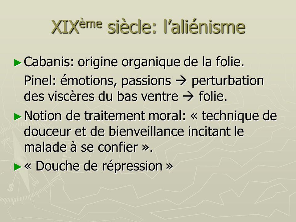 XIXème siècle: l'aliénisme