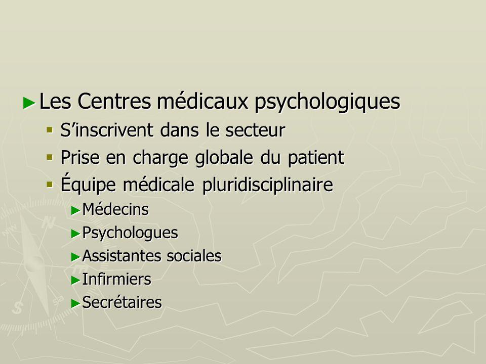 Les Centres médicaux psychologiques