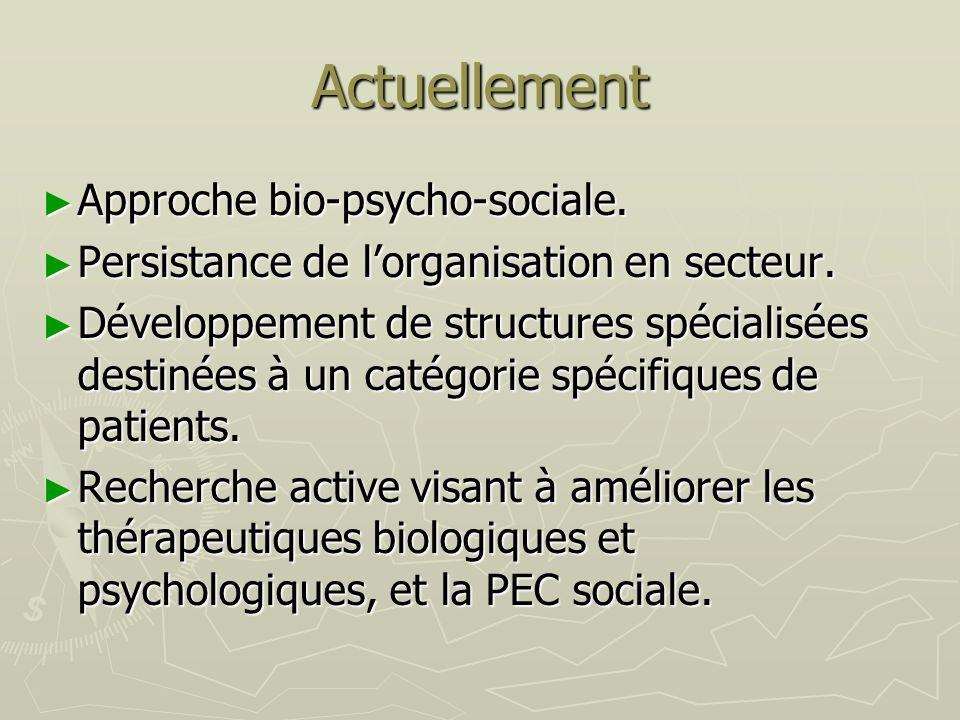 Actuellement Approche bio-psycho-sociale.