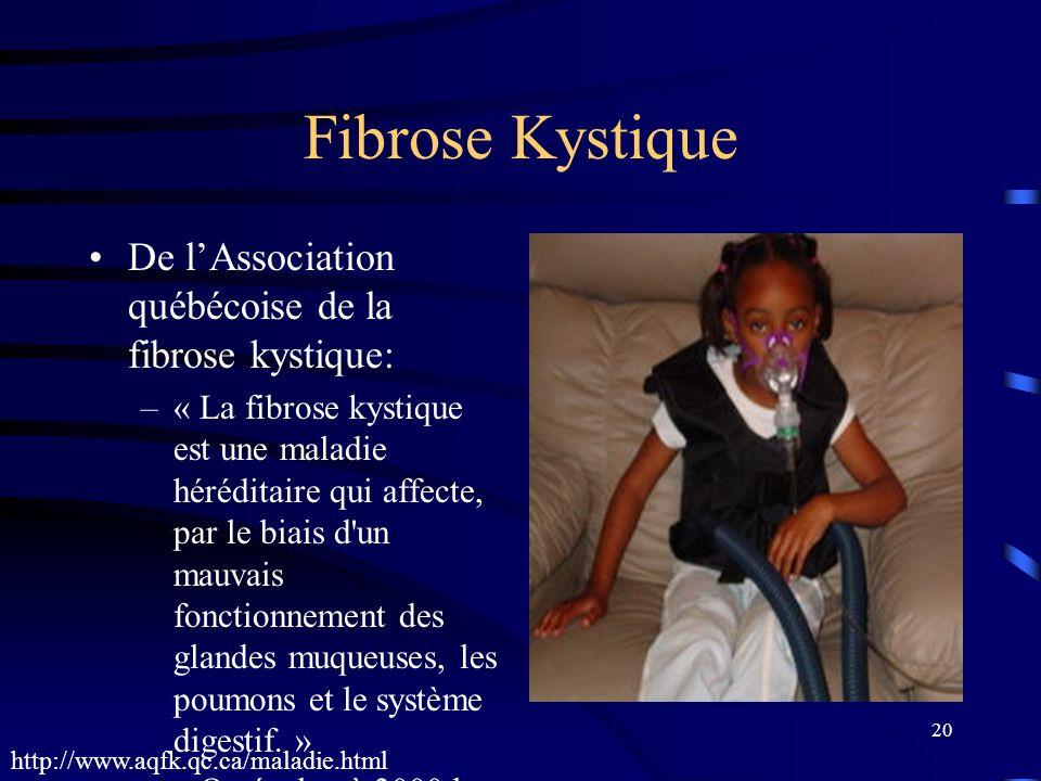Fibrose Kystique De l'Association québécoise de la fibrose kystique: