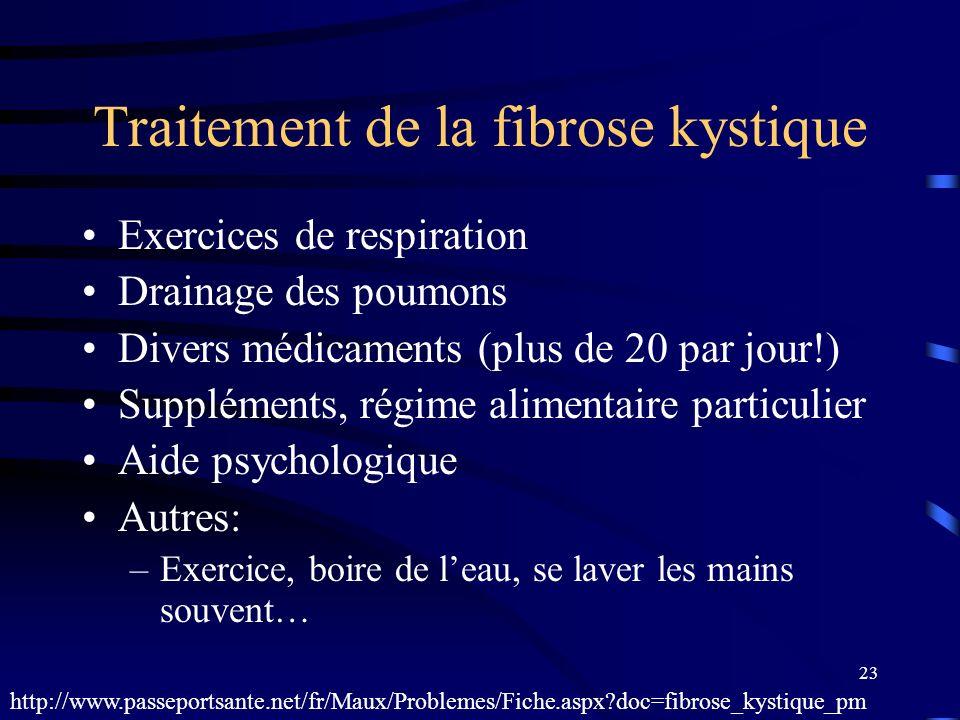 Traitement de la fibrose kystique