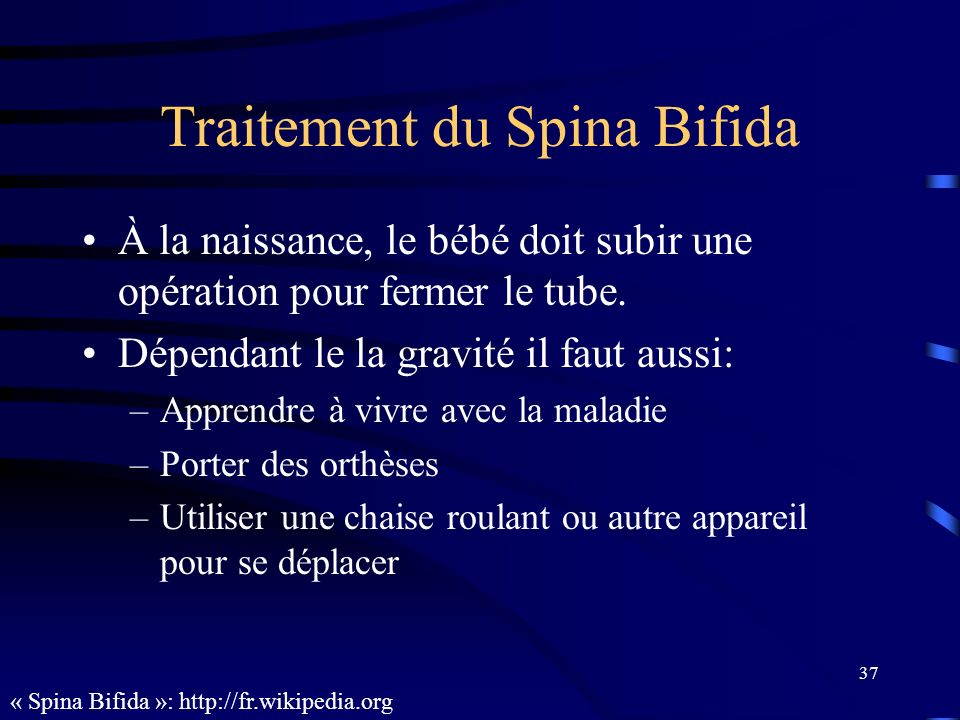 Traitement du Spina Bifida