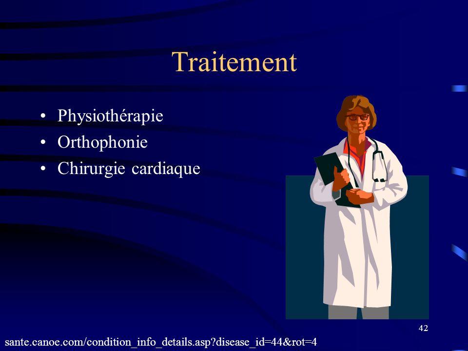 Traitement Physiothérapie Orthophonie Chirurgie cardiaque