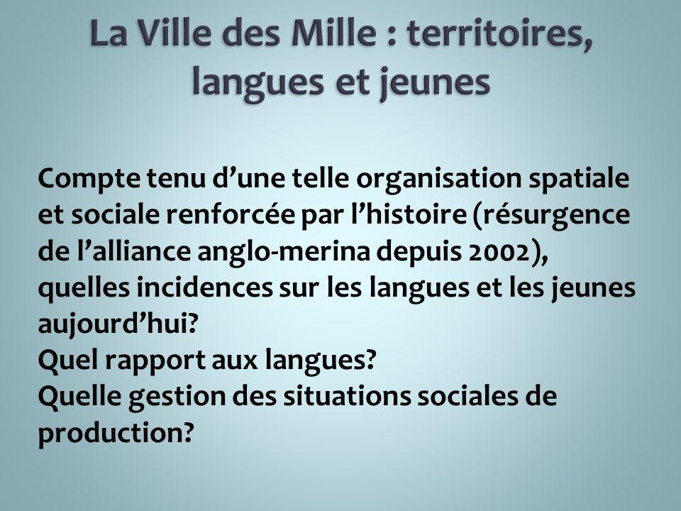 La Ville des Mille : territoires, langues et jeunes