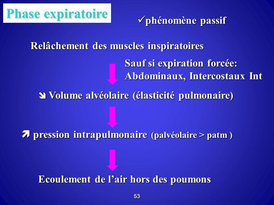 Phase expiratoire phénomène passif