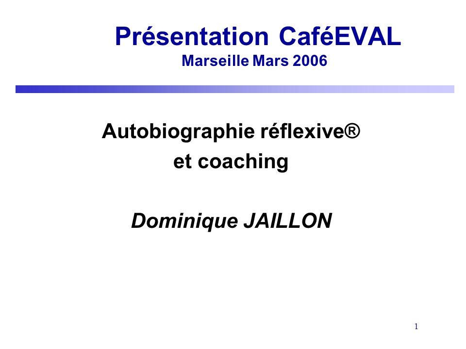 Présentation CaféEVAL Marseille Mars 2006