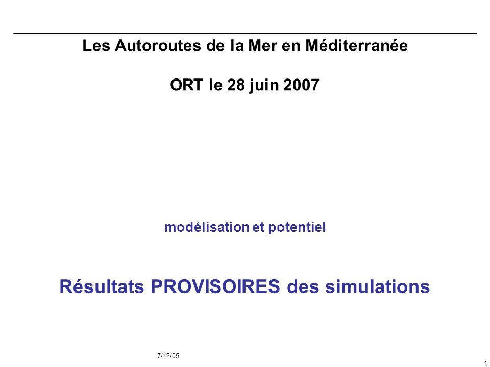 Les Autoroutes de la Mer en Méditerranée ORT le 28 juin 2007