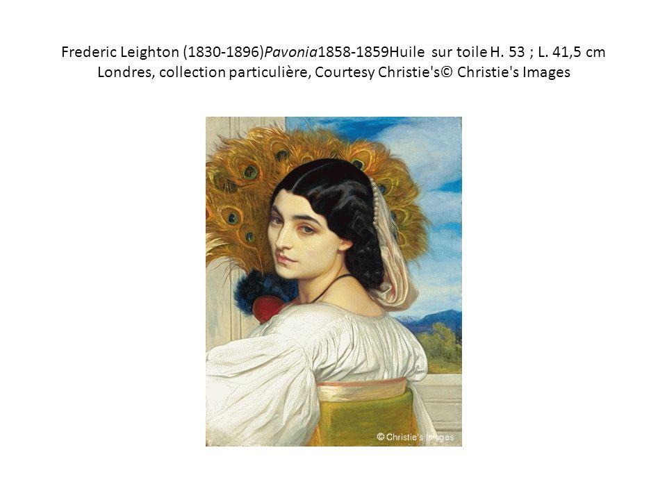 Frederic Leighton (1830-1896)Pavonia1858-1859Huile sur toile H. 53 ; L