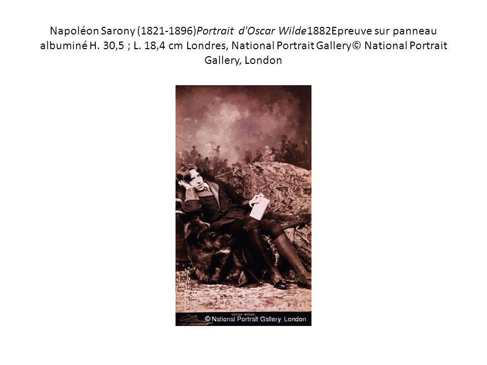 Napoléon Sarony (1821-1896)Portrait d Oscar Wilde1882Epreuve sur panneau albuminé H.