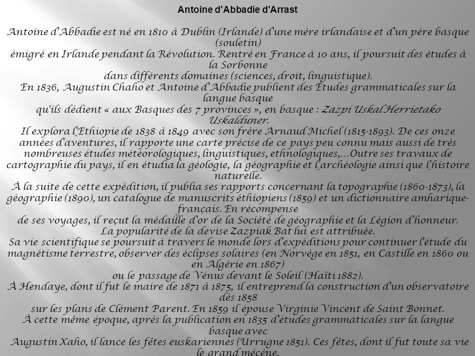 Antoine d Abbadie d Arrast