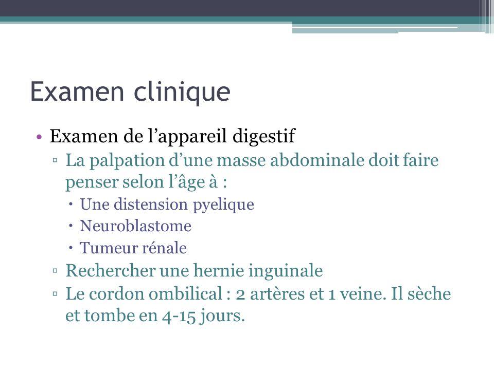 Examen clinique Examen de l'appareil digestif