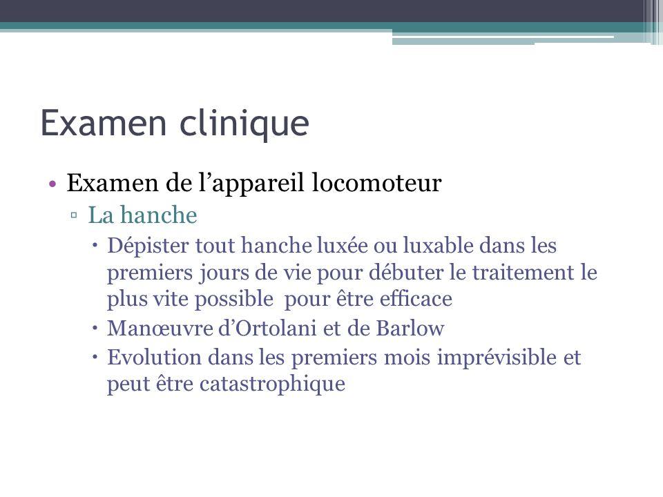 Examen clinique Examen de l'appareil locomoteur La hanche