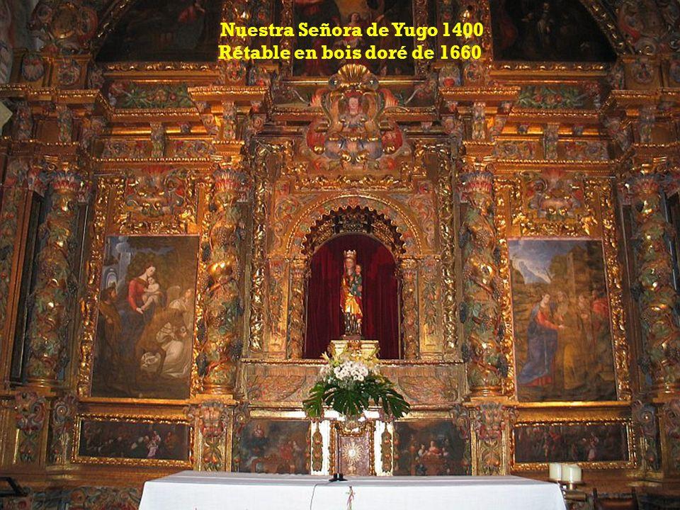 Nuestra Señora de Yugo 1400 Rétable en bois doré de 1660