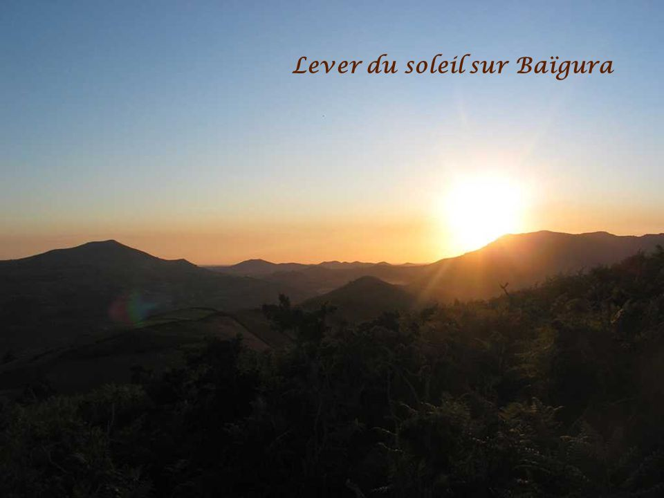 Lever du soleil sur Baïgura