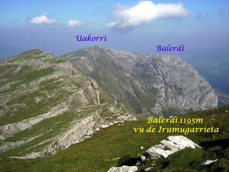 Balerdi 1195m vu de Irumugarrieta