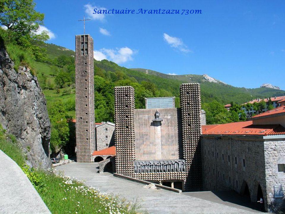 Sanctuaire Arantzazu 730m