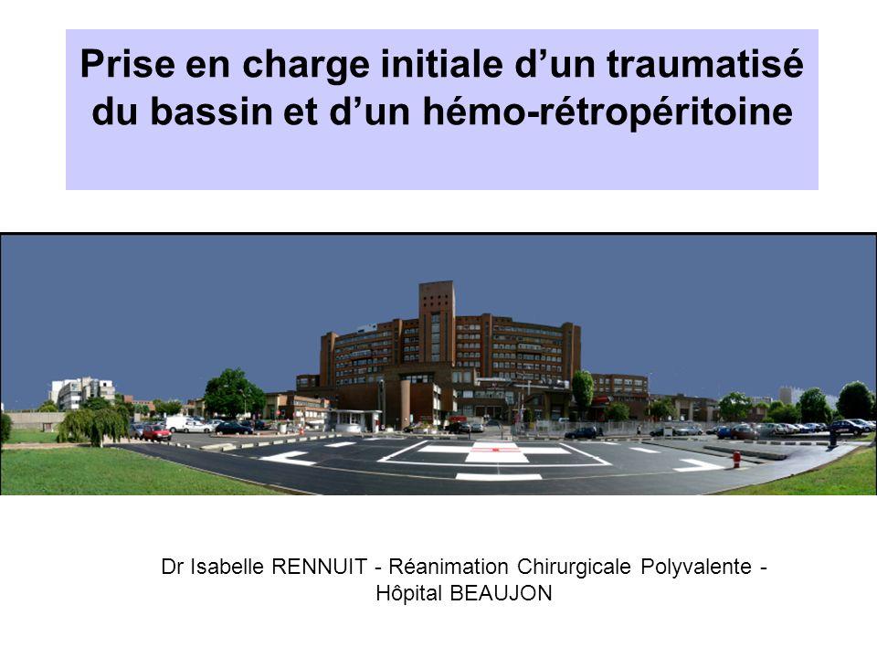 Prise en charge initiale d'un traumatisé du bassin et d'un hémo-rétropéritoine traumatique