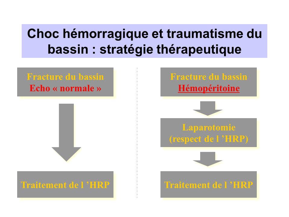 Choc hémorragique et traumatisme du bassin : stratégie thérapeutique