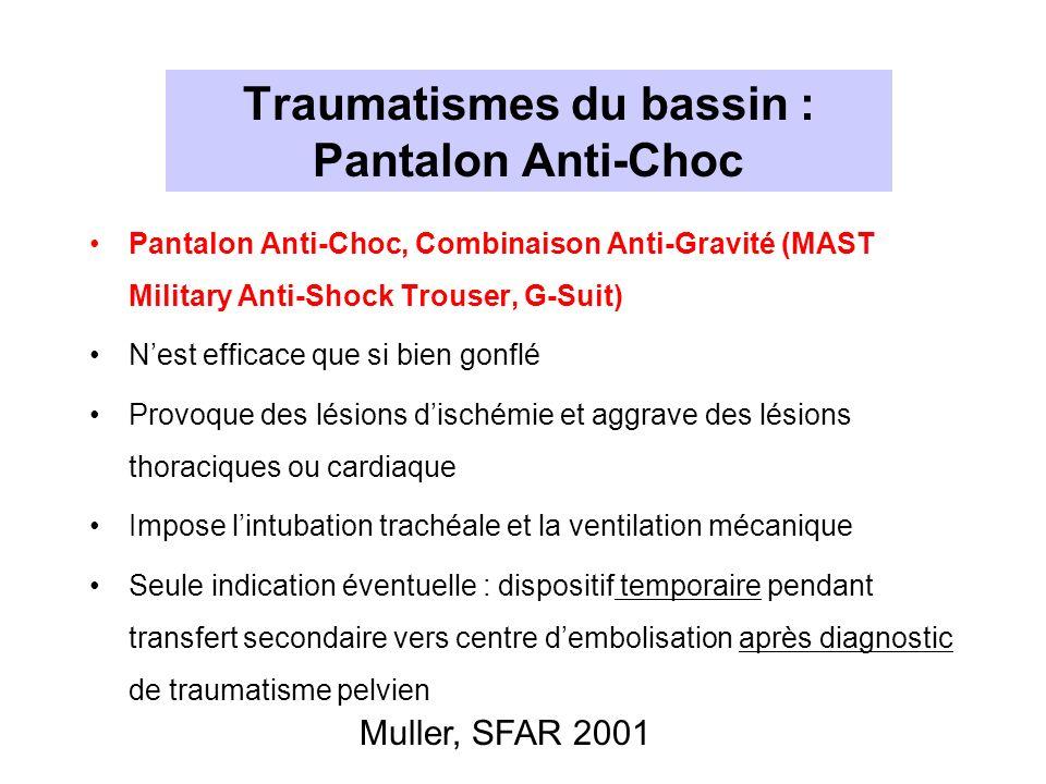 Traumatismes du bassin : Pantalon Anti-Choc