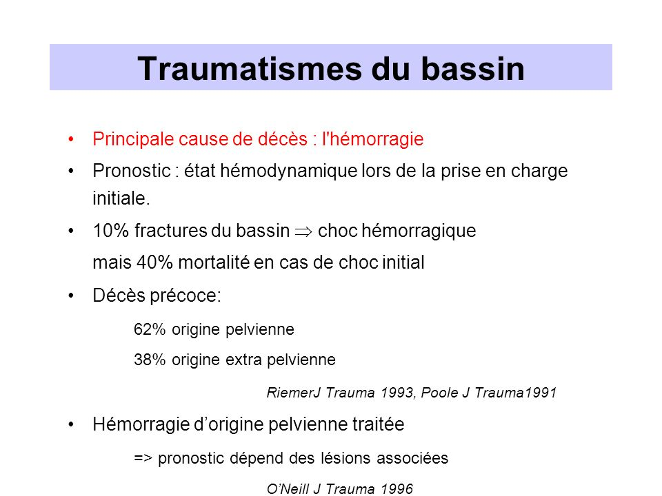 Traumatismes du bassin