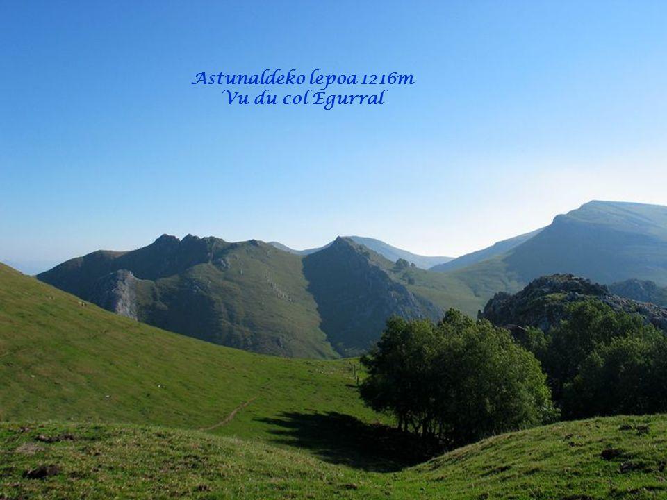 Astunaldeko lepoa 1216m Vu du col Egurral