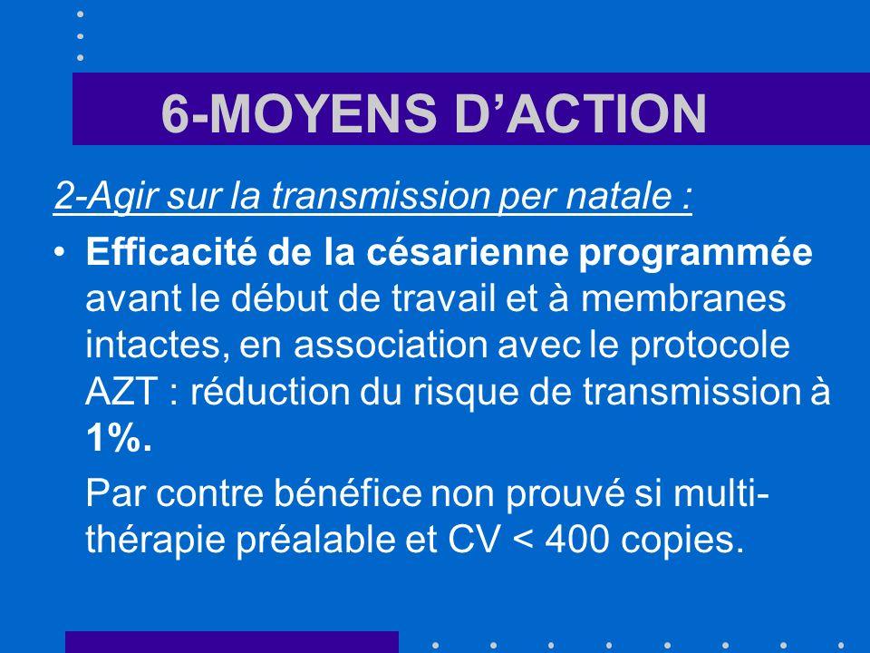 6-MOYENS D'ACTION 2-Agir sur la transmission per natale :
