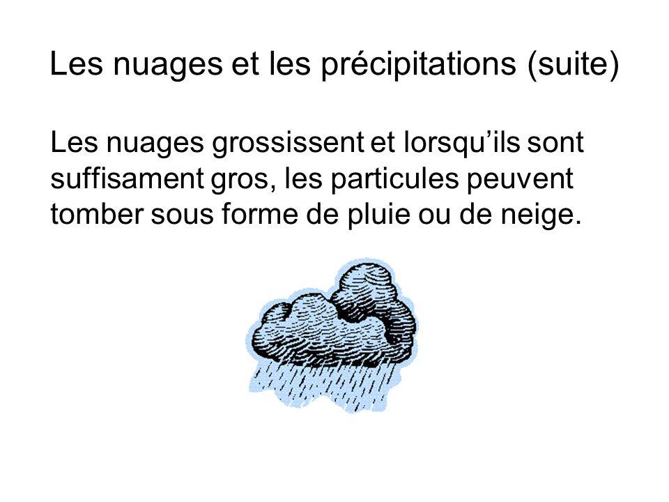 Les nuages et les précipitations (suite)