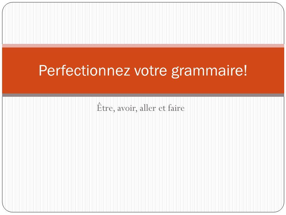 Perfectionnez votre grammaire!