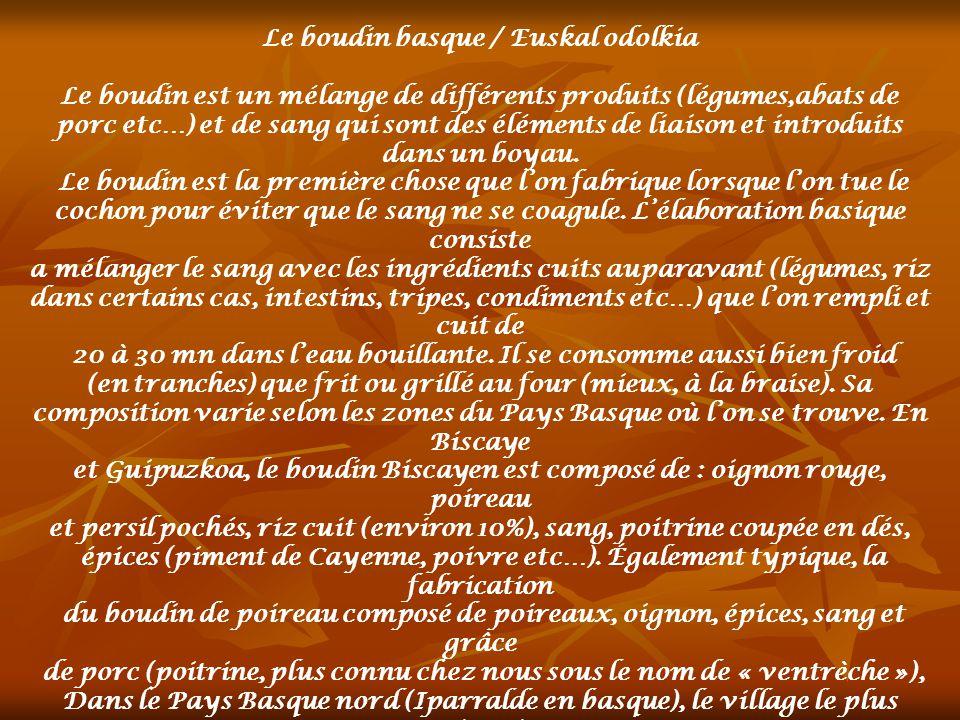 Le boudin basque / Euskal odolkia