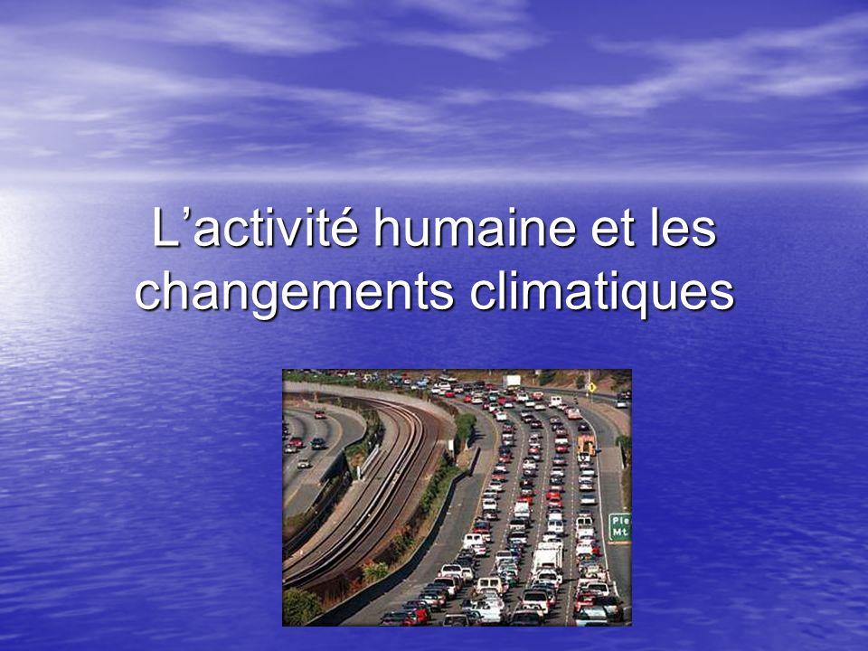 L'activité humaine et les changements climatiques