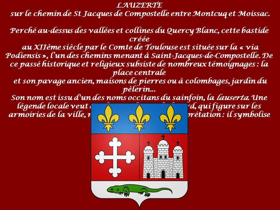 sur le chemin de St Jacques de Compostelle entre Montcuq et Moissac.