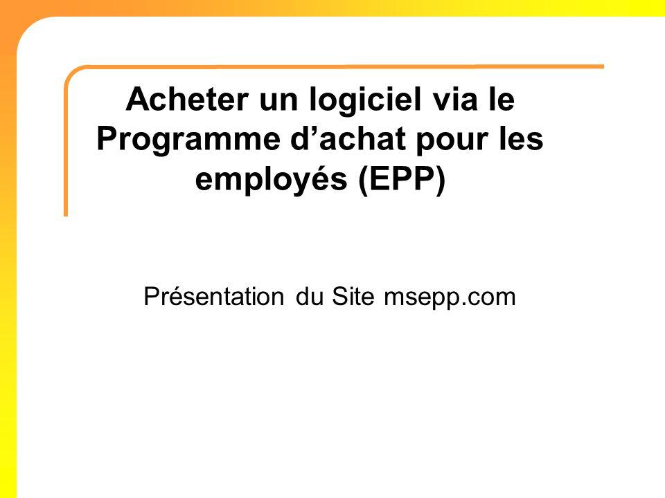 Acheter un logiciel via le Programme d'achat pour les employés (EPP)
