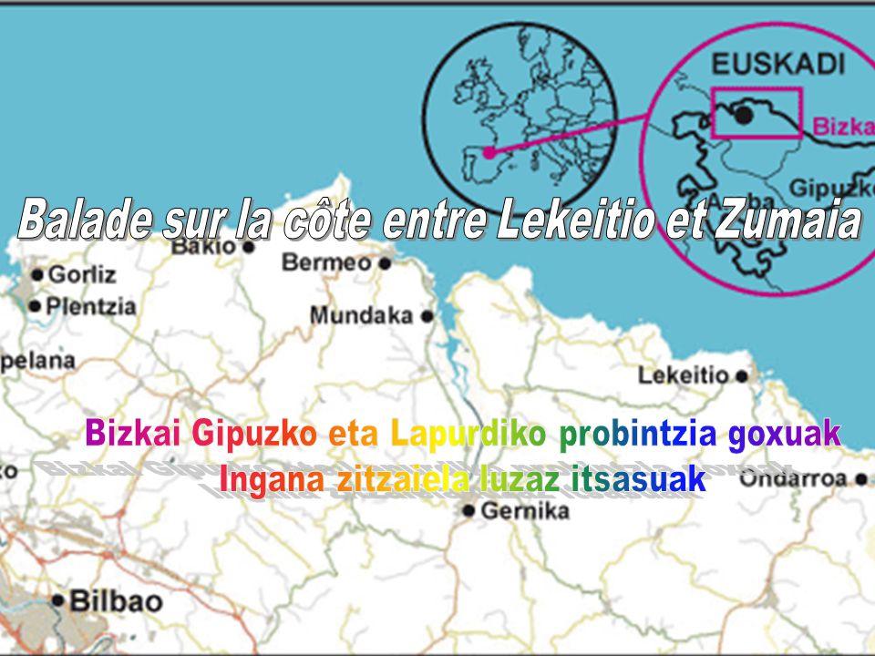 Balade sur la côte entre Lekeitio et Zumaia