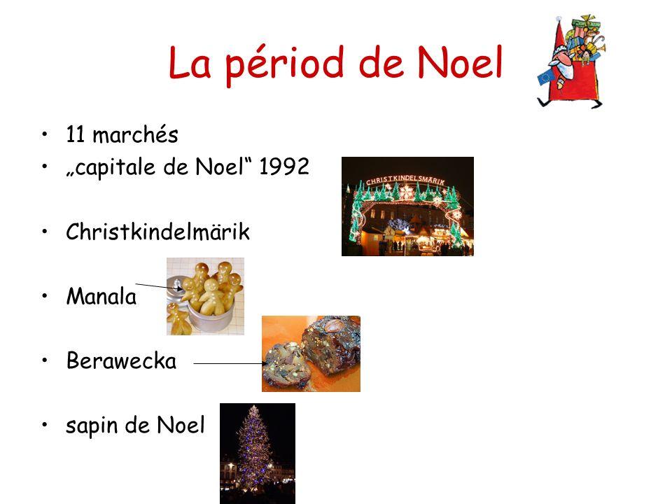 "La périod de Noel 11 marchés ""capitale de Noel 1992 Christkindelmärik"