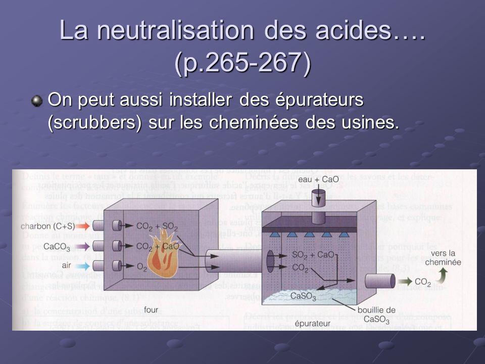 La neutralisation des acides…. (p.265-267)