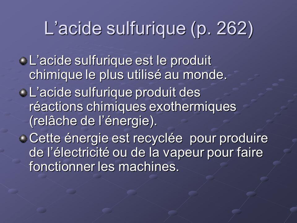 L'acide sulfurique (p. 262)