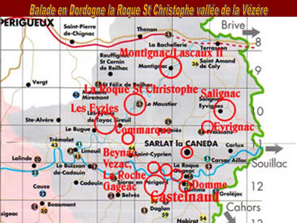 Balade en Dordogne la Roque St Christophe vallée de la Vézère