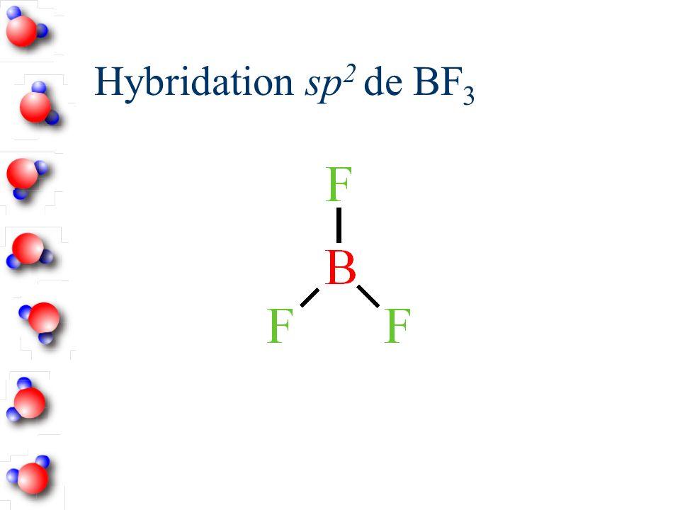 Hybridation sp2 de BF3