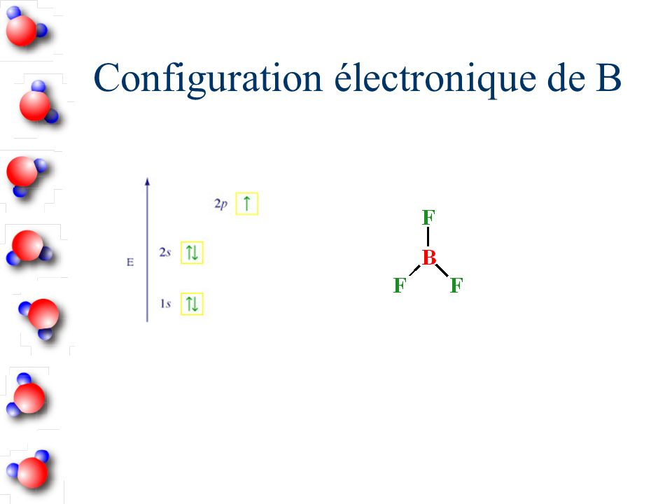 Configuration électronique de B