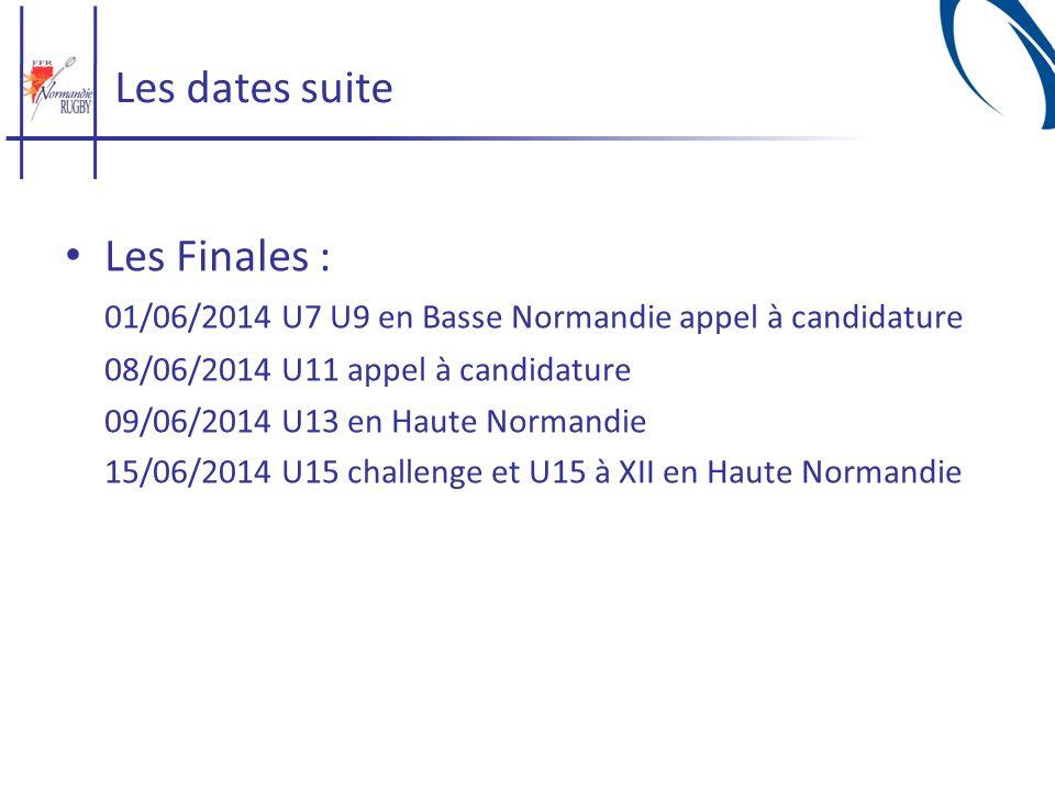 01/06/2014 U7 U9 en Basse Normandie appel à candidature