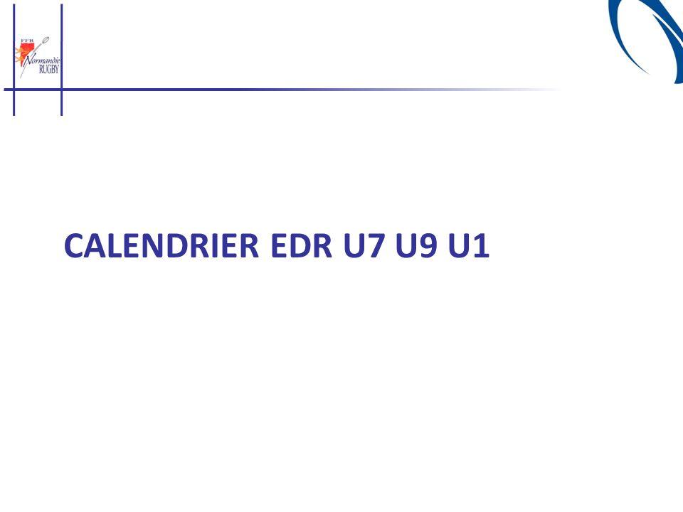 Calendrier EDR U7 u9 u1